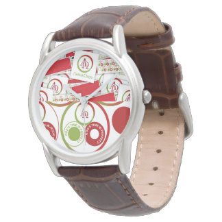 Christian Branded Brown Leather Men's Watch
