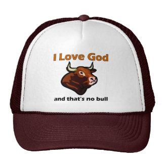 Christian bull saying trucker hat
