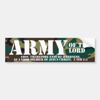 Christian Bumper Sticker - Army of the Lord