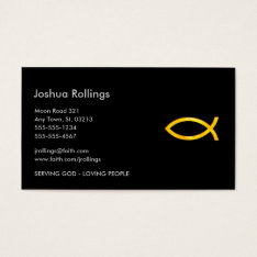 Christian - Business Card at Zazzle