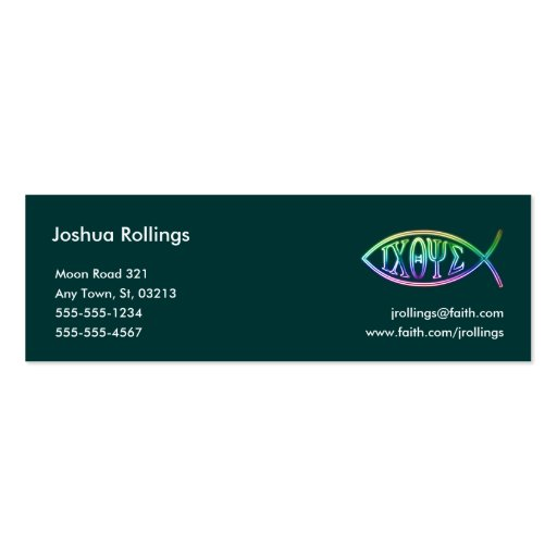 christian business card zazzle
