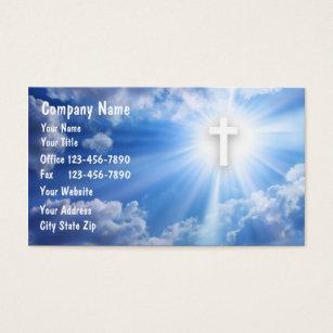 Catholic prayer business cards templates zazzle christian business cards colourmoves