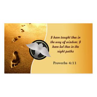 Christian Business Cards footprints