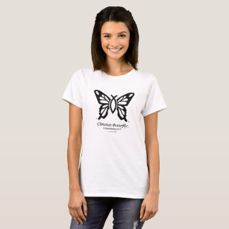 """Christian Butterfly"" T-Shirt Black logo"