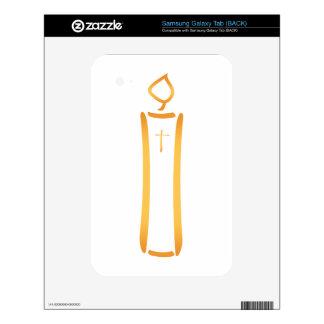 Christian Candle Samsung Galaxy Tab Skins