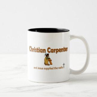Christian Carpenter 2 gift design Two-Tone Coffee Mug