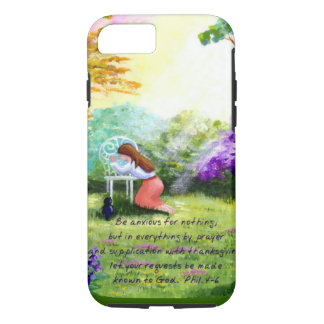 Christian Cat Bible Verse Scripture Creationarts iPhone 8/7 Case