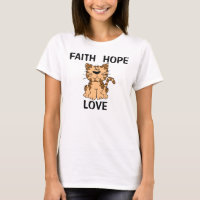 Christian Cat T-shirts, Faith Hope Love T-Shirt
