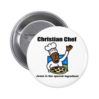 Christian Chef religious gift Buttons