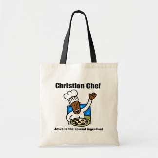 Christian Chef religious gift Canvas Bags