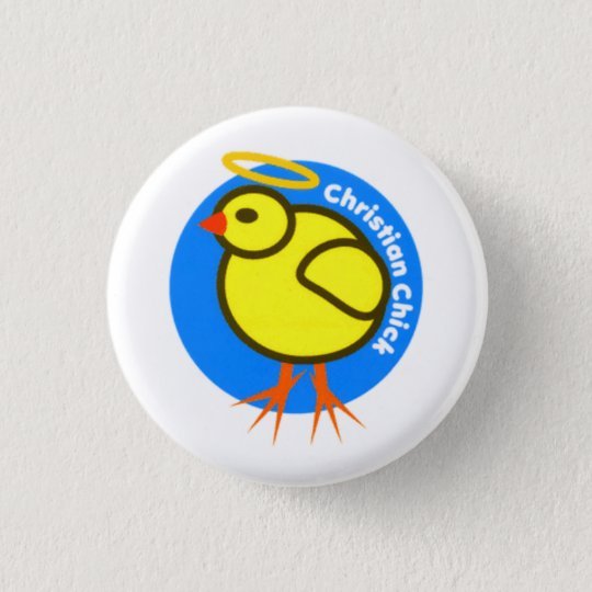 Christian Chick Button
