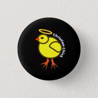 Christian Chick Pinback Button