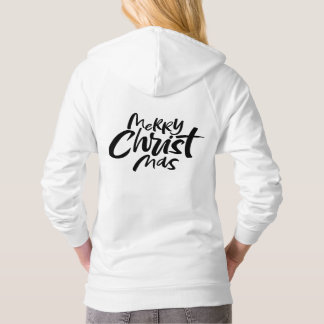 Christian Christmas Calligraphy Lettering Religion Hoodie