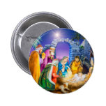 Christian Christmas card 2 Inch Round Button