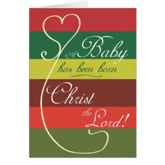 Christian Christmas Card: A child is born