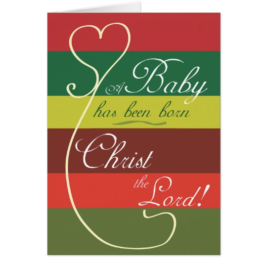 Christian Christmas Card: A child is born Card