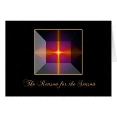 Christian Christmas Cross Card at Zazzle