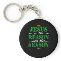 Christian Christmas Gifts Jesus Is The Reason For Keychain