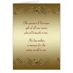 Christian Christmas Holiday Card at Zazzle