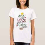 Christian Christmas Joy Love and Peace T-Shirt