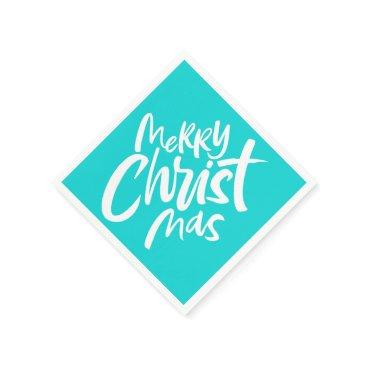 McTiffany Tiffany Aqua Christian Christmas Lettering Religious Tiffany Napkin
