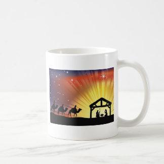 Christian Christmas Nativity Scene Coffee Mugs