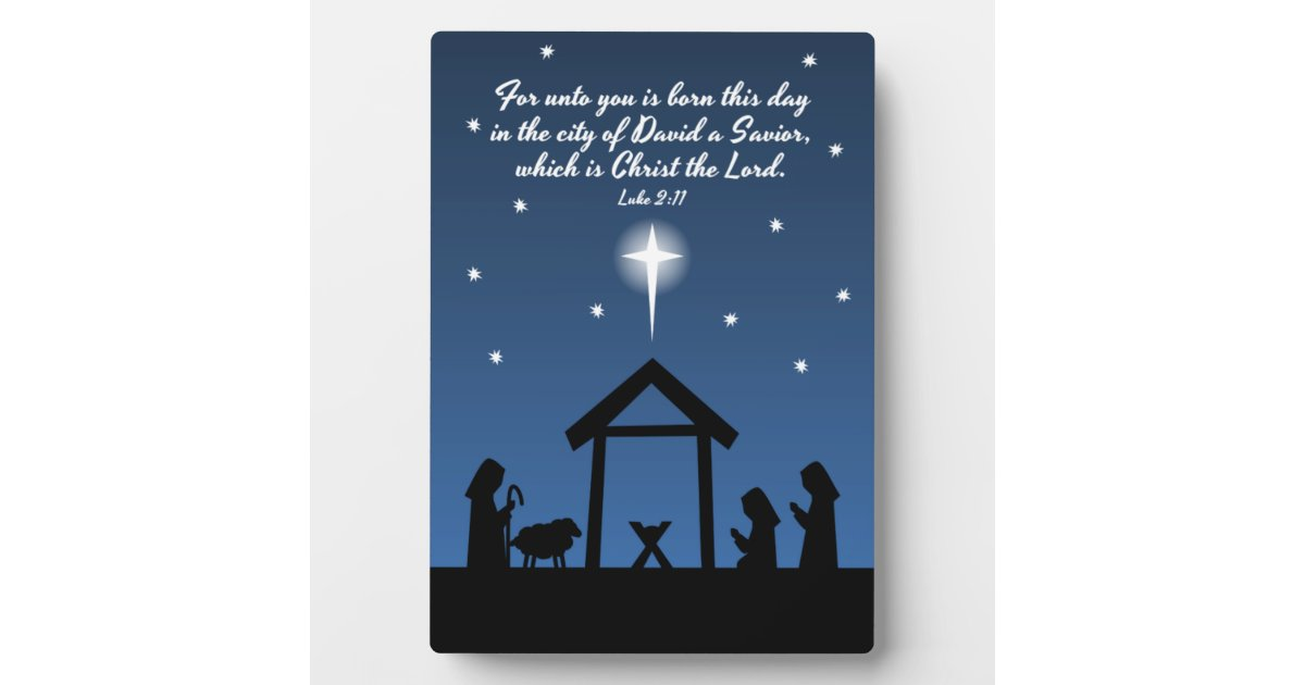 Christian Christmas Nativity Scene Design / Verse Plaque ...