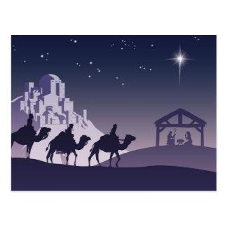 Christian Christmas Nativity Scene Postcard