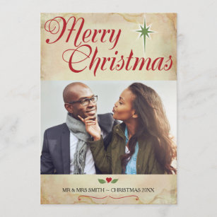 christian christmas photo card scripture on back holiday card - Christmas Card Scripture