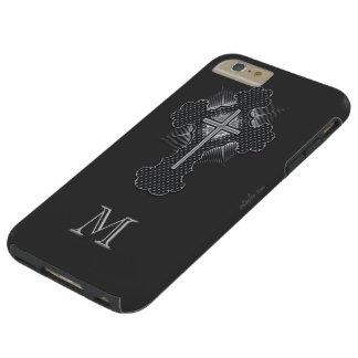 Christian chrome cross gray monogram tough iPhone 6 plus case