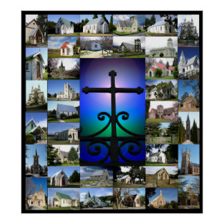 Christian Church Collage Poster