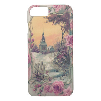 Christian Church Pink Rose Snow iPhone 7 Case