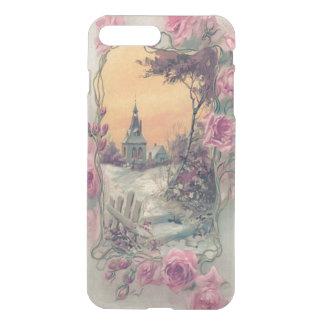 Christian Church Pink Rose Snow iPhone 7 Plus Case