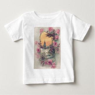 Christian Church Pink Rose Snow T-shirt