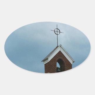 Christian Church Steeple Sticker