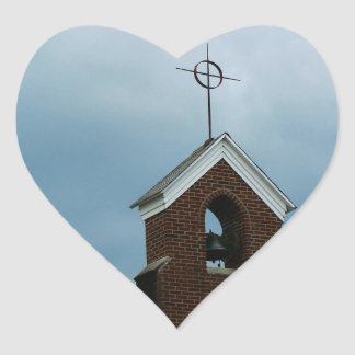 Christian Church Steeple Heart Sticker