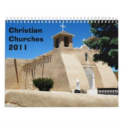 Christian Churches 2011 Wall Calendar