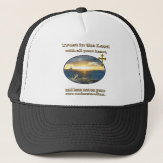 """Christian clothing """"trust in the Lord"""" Trucker Hat"""