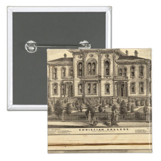 Christian College and Pacific Methodist College 2 Inch Square Button