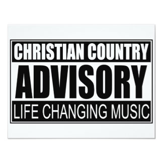 Christian Country Advisory... Card