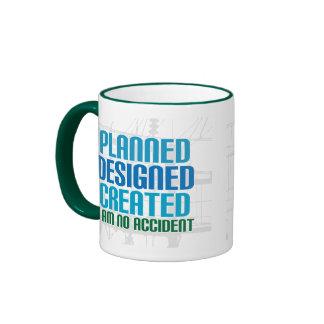 Christian creation mug: Planned Designed Created
