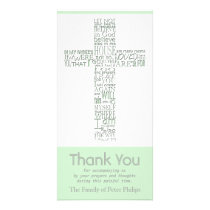 Christian Cross 10 John 14 Sympathy Thank You Card