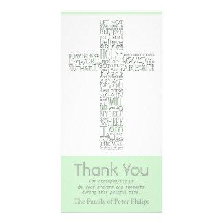 Christian Cross 10 John 14 Sympathy Thank You Card