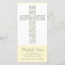 Christian Cross 12 John 14 Sympathy Thank You Card