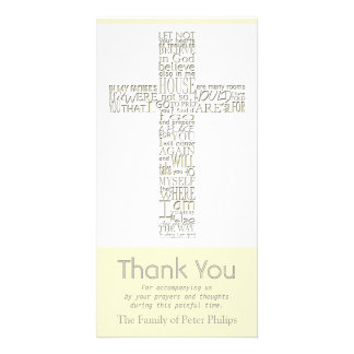 Christian Cross 12 John 14 Sympathy Thank You Card