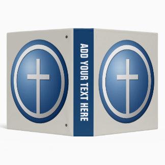 Christian Cross 3 Ring Binder