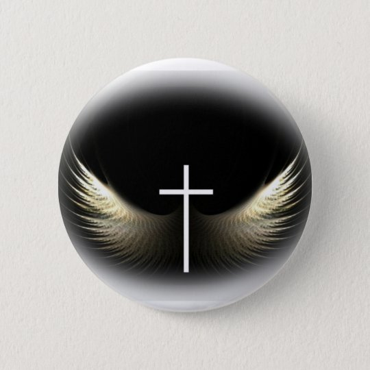 Christian Cross and Holy Spirit Button