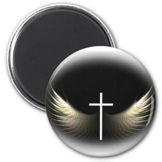 Christian Cross and Holy Spirit Refrigerator Magnet