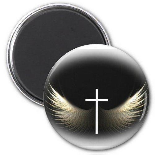 Christian Cross and Holy Spirit Magnet