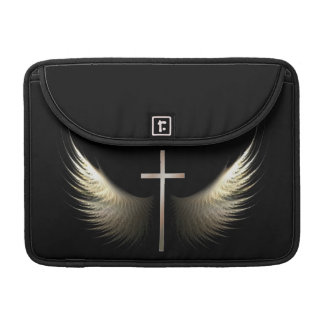 Christian Cross and Wings of Holy Spirit Sleeve For MacBooks